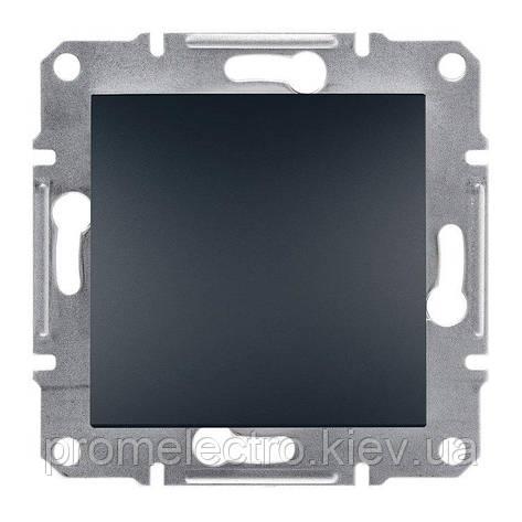Переключатель Schneider-Electric Asfora Plus 1-клавишный перекрестный антрацит (EPH0500171), фото 2