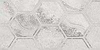 30х60 Керамическая плитка стена Fusion Гексагон Фьюжн серый