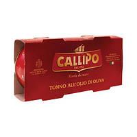 "Тунец в оливковом масле ""Иелоуфин"" Callipo 2х160г, фото 1"