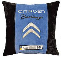 Подарок подушка ситроен с вышивкой логотипа машины citroen подарок новогодний