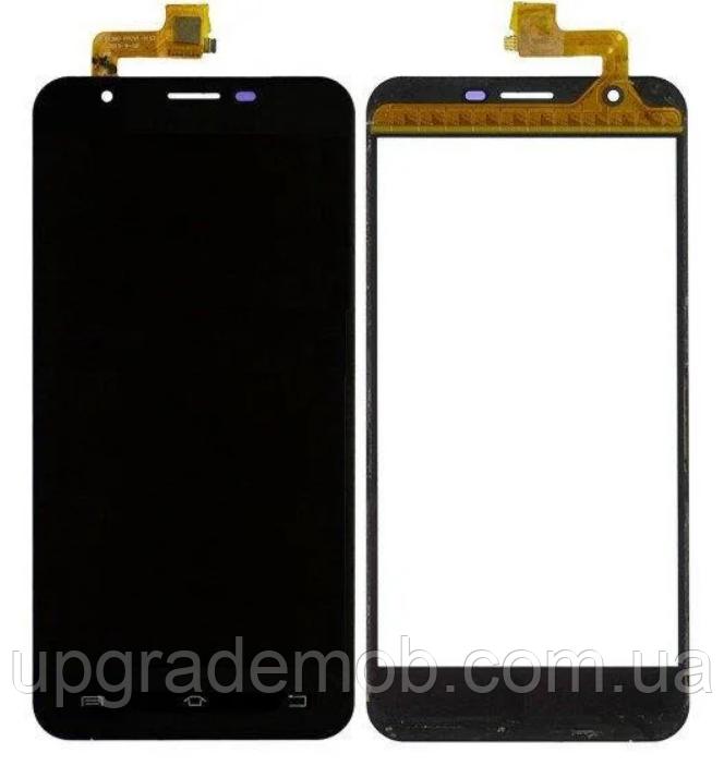 Дисплей Bravis A551 Atlas/Oukitel U7 Pro с тачскрином модуль сенсор, черный