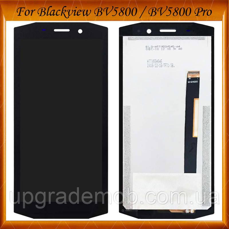 Дисплей Blackview BV5800/BV5800 Pro тачскрин сенсор, черный