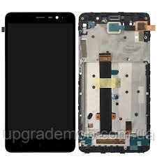 Дисплей Xiaomi Redmi 3/3 Pro/3s/3s Prime/3x с тачскрином модуль сенсор, черный, в рамке, оригинал