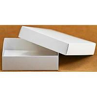 Подарочная картонная коробка с крышкой белая (090 х 90 х 25)