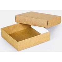 Подарочная картонная коробка с крышкой крафт 090 х 90 х 25)