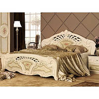 Кровать двуспальная с подъемным механизмом из ДСП и МДФ Реджина (с каркасом, без матраса) MiroMark