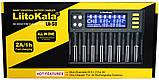 LiitoKala Lii-S8 Зарядное устройство 10 АКБ 12V/4A+LSD+Блок питания и Авто адаптер (18650,21700,26650,КРОНА), фото 7