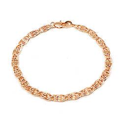 """Браслет """"Улитка"""" SONATA из медицинского золота, позолота РО, 52081 (20 см)"""