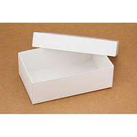 Подарочная картонная коробка с крышкой белая (140 х 85 х 45)