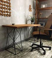 Дизайнерский Письменный офисный стол в стиле Лофт Loft RV021