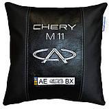 Сувенир подушка чери с вышивкой логотипа машины Chery подарок в авто, фото 2