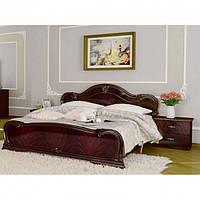Кровать двуспальная с подъемным механизмом из ДСП и МДФ Футура (с каркасом, без матраса) MiroMark
