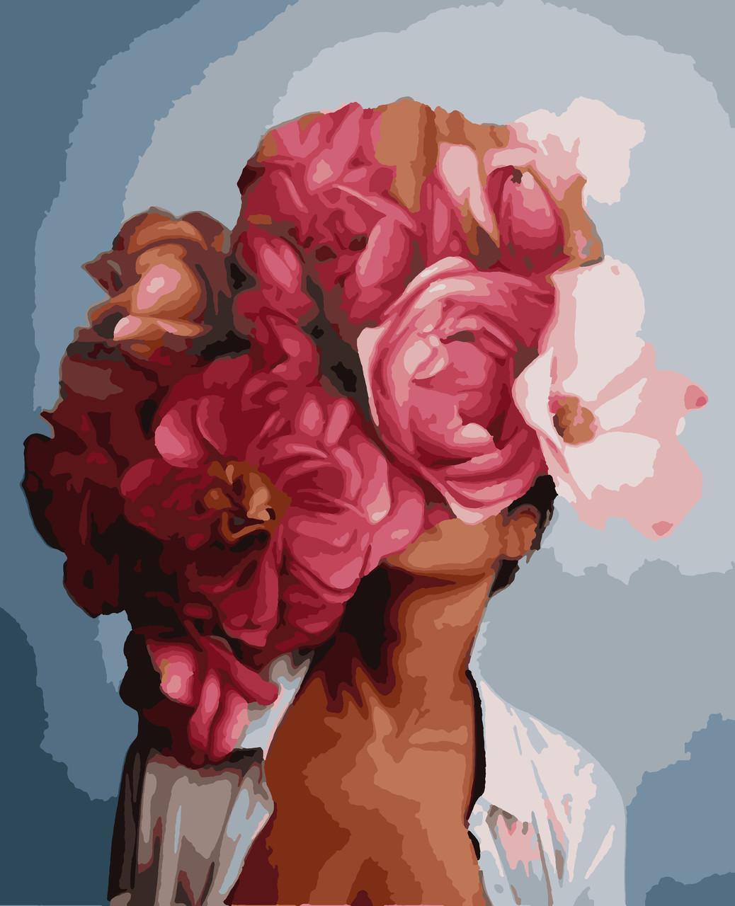 Картина рисование по номерам Жіноча фантазія PNX7604 Artissimo 50х60см розпис за номерами набір, фарби,