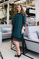 Свободное женское платье больших размеров, разные цвета р.48-50,52-54,56-58,60-62 Код 058Я