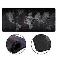 Ігрова поверхня, великий килимок для мишки ігровий 70х30см Карта Світу
