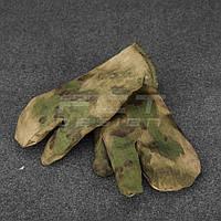 Рукавицы трехпалые Атакс зеленый набивной мех