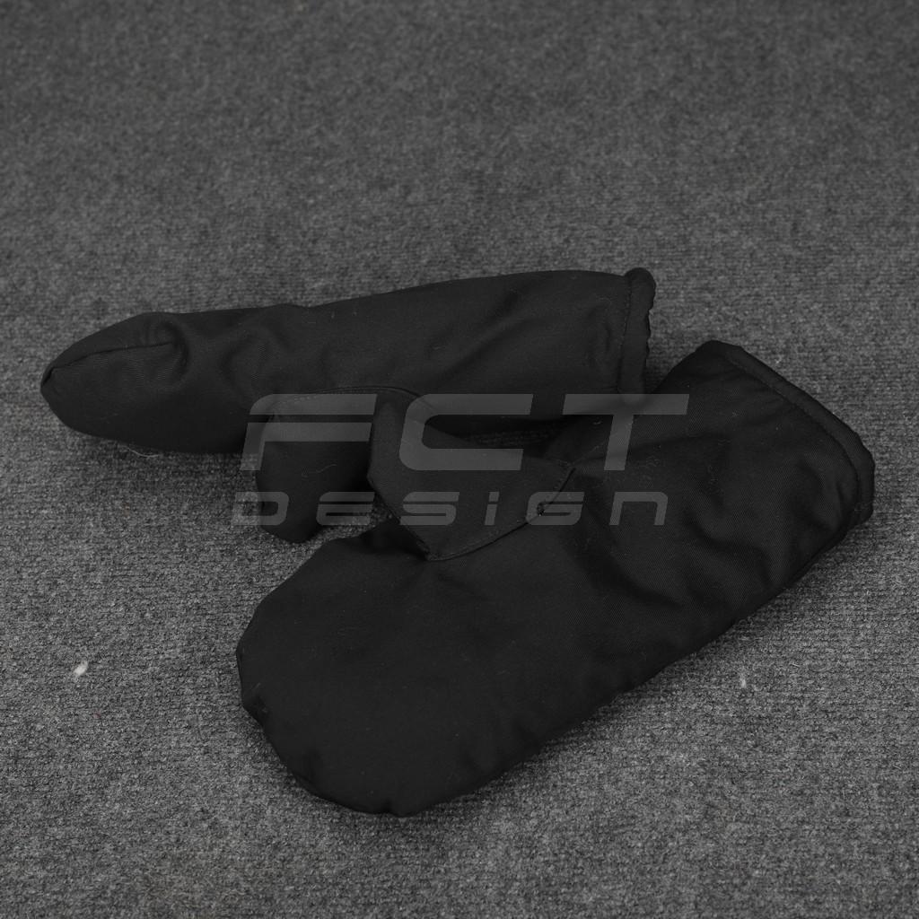Рукавицы трехпалые черные набивной мех