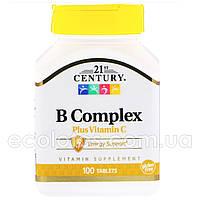 """Комплекс витаминов B с витамином С """"21st Century"""" 100 таблеток"""