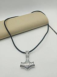 Серебряный подвес Молот Тора, двухсторонний, из серебра 925 пробы.