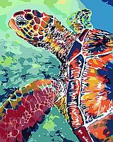 Картина рисование по номерам ArtStory Черепаха 40х50см AS0076 набор для росписи, краски, кисти, холст