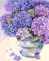 Картина рисование по номерам ArtStory Букет сирени 40х50 см AS0123 набор для росписи, краски, кисти, холст