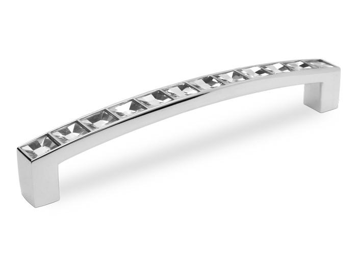Ручка мебельная GIFF 5/104/128 хром/кристалл