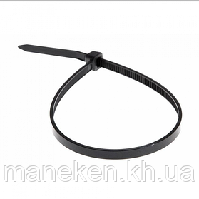 Хомут пластиковий 7,6*300 чорний Apro (паків - 100шт)