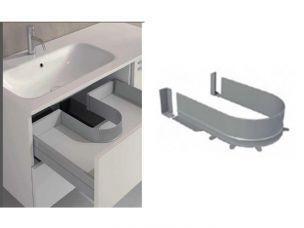 Огорожа сифона для ящика під мийку Volpato для ДСП 16мм сірий