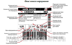 Транспортные этикетки для отправок Новой почты : советы по печати