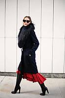 Пальто с   воротником из чернобурки, фото 1