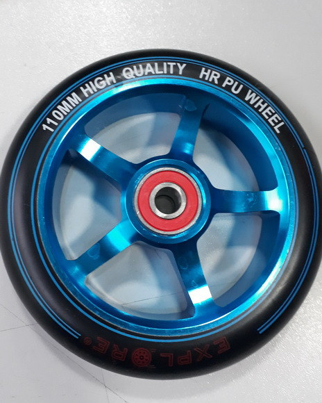 Колесо Explore 110 мм алюм на трюковий самокат синій