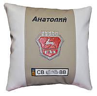 Автомобильная подушка ВАЗ волга с вышивкой логотипа подарок в машину