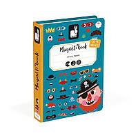 Магнітна книга Janod Смішні особи хлопчик (J02716)