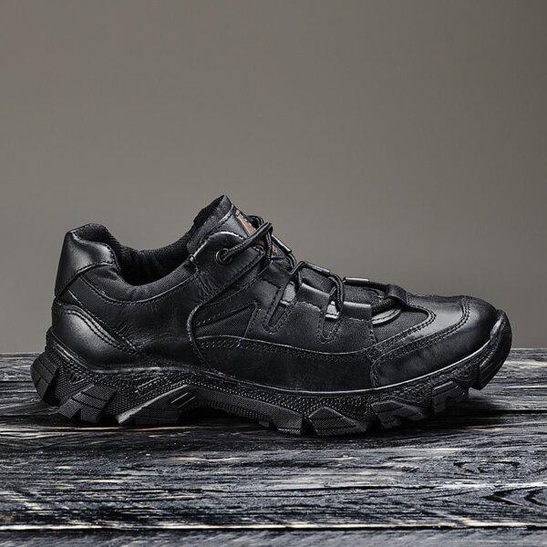 """Тактические кроссовки """"UKR-TEC"""" черный кожа 35-48 размеры"""