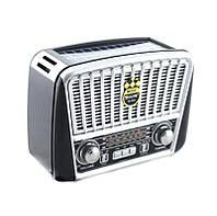 Портативная колонка MP3 USB Golon RX-456S Solar с солнечное панелью, Black Grey