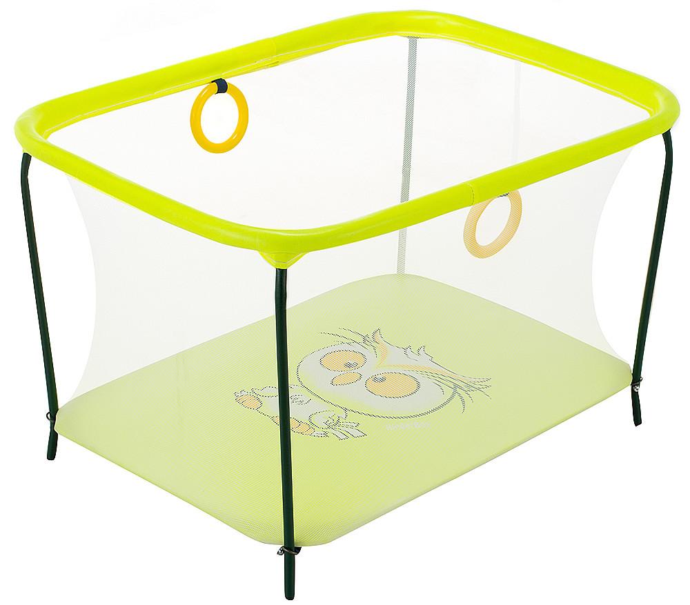"""Манеж Qvatro LUX-02 """"Оwl"""", мелкая сетка, желтый, 625000"""