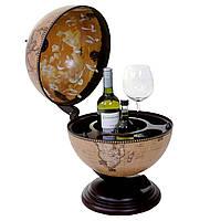 Глобус бар настольный Зодиак кремовый сфера 33 см Гранд Презент 33002N