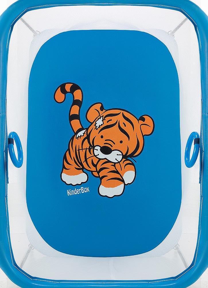 "Манеж Qvatro LUX-02 ""Tiger"", мелкая сетка, синий, 624998"