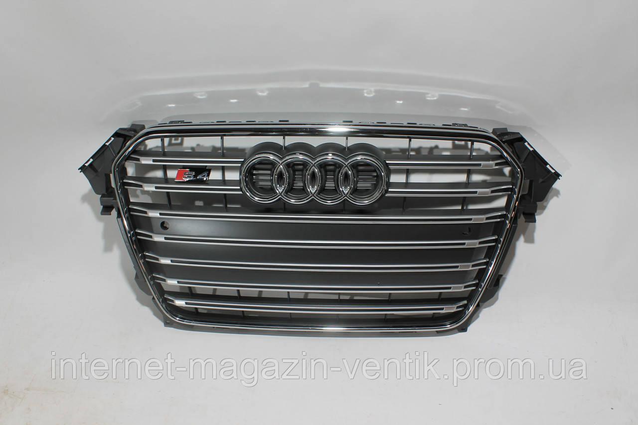 Серая решетка радиатора Audi A4 S4 2012-2015
