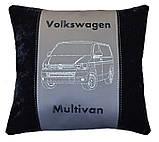 Автомобільна подушка з вишивкою силуету логотипу машини, фото 3