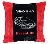 Автомобильная подушка с вышивкой фото силуэта машины подарок в авто, фото 5