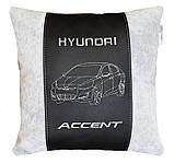 Автомобильная подушка с вышивкой фото силуэта машины подарок в авто, фото 4
