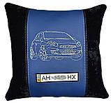 Автомобильная подушка с вышивкой фото силуэта машины подарок в авто, фото 2
