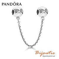 Pandora соединительная цепочка ИЗЯЩНЫЙ БАНТ 791780CZ серебро 925 цирконий Пандора оригинал
