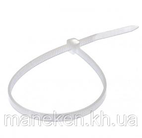Хомут пластиковий 2,5*250 білий APRO (паків - 100шт)