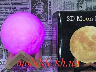 Лампа Місяць 3D Moon Lamp Настільний світильник місяць Magic 15см 3D нічник світильник на сенсорному управлінні
