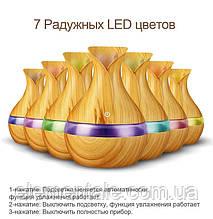 Ультразвуковий зволожувач повітря аромадиффузор з LED підсвічуванням Mini Atomization Humidifier Light Wood