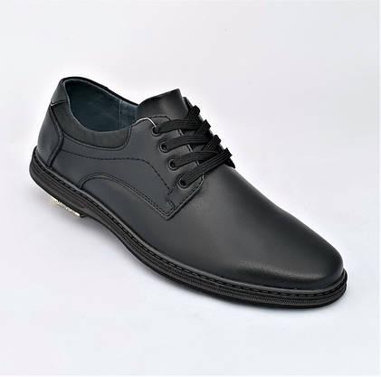 Мужские Мокасины Черные Кожаные Туфли Натуральная Кожа (размеры: 40,41,42,43,44,45) Видео Обзор - 65-2, фото 3