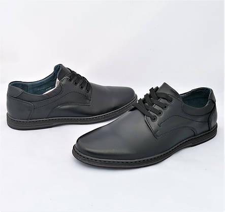 Мужские Мокасины Черные Кожаные Туфли Натуральная Кожа (размеры: 40,41,42,43,44,45) Видео Обзор - 65-2, фото 2
