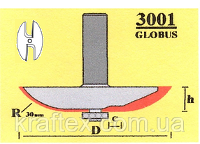 Фреза 3001 Sekira 22-201-730 (фигирейная горизонтальная) D73 h12 d12